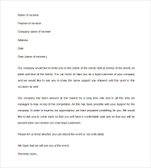 sample business invitation letter for an event Asafonec