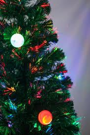 6 Ft Pre Lit Multi Color Led Fiber Optic Christmas Tree Bright Throughout Trees