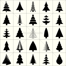 Royalty Free Vector 12930164 Christmas Tree Silhouette Design Vector