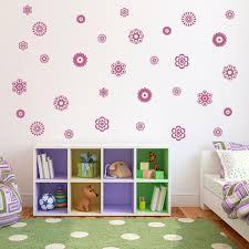 Flower Wall Decals Set Of 31 Flower Wall Decals Girl Bedroom