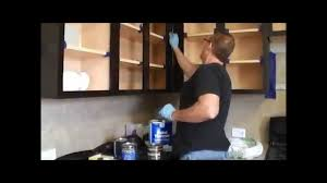 Gel Stain Cabinets White by How To Gel Stain Kitchen Cabinets Youtube