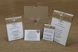 Image Is Loading RUSTIC HESSIAN LACE HEART WEDDING STATIONERY CHOOSE YOUR