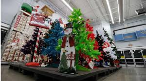 Pre Lit Led Christmas Trees Walmart by Christmas Decorations At Walmart