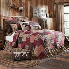 Wyatt Rustic Plaid Patchwork Quilt Bedding
