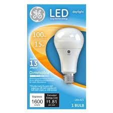 ge led light bulb a21 daylight dimmable 15 watt model 65939