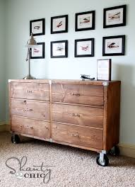 ana white rolling rustic wood dresser diy projects
