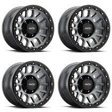 100 6 Lug Truck Rims Set 4 20 Vision 111 Nemesis Gunmetal Wheels 20x9 X135 18mm Ford