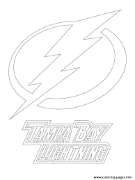 Tampa Bay Lightning Logo Nhl Hockey Sport Coloring Pages Printable