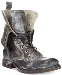 bed stu bed stu james cap toe boots in gray for men lyst
