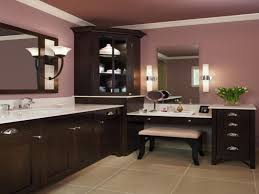 vanity makeup desk with lights comes with brown ceramics flooring
