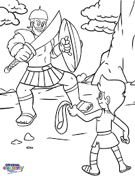 David And Goliath Bible Coloring Page