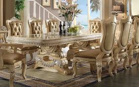 Luxury Elegant Dining Room Set High End Modern Table Furniture For Sale Euro Design Formal Chair