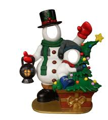 Home Props Specialty Decor Fiberglass Snowman Family Photo Pod