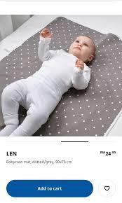 ikea len baby changing mat babies nursing feeding