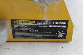 workforce thd550 tile cutter property room