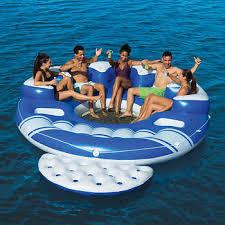 Bestway CoolerZ Blue Caribbean 6 Person Floating Island