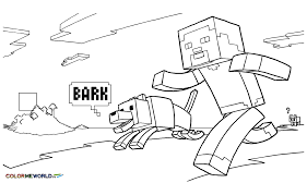 Minecraft Video Games Printable Coloring Pages