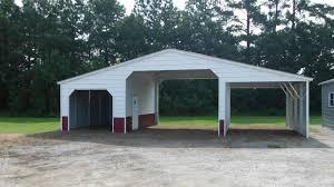 2 Car Garage Kits Kit Side Entry Enclosed Steel Garages With Side