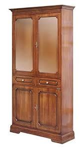 glasvitrine schrank aus massivholz 2 türen aus holz 2 türen aus glas 2 schubladen möbel vitrine klassisch für