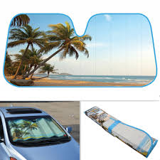 PALM TREE ISLAND Beach Auto Sun Shade For Car SUV Truck Windshield ... Sun Shade Visor Protector Shield For Car Truck Gps Navigation 7 Window Shades Numbers And Letters Baby Side Sunshade Anielka Curtains Best Of Amazon Windshield Snow Cover Ice Frost Guard 2014 Volkswagen Jetta Gli Weathertech Techshade Custom Fit Sun Buy Custom Accsories 17952 Nylon Loop Cheap Online Motor Trend Front Folding Accordion Black Auto Chevy New Ssr Forum Shark Kage Cfiguration Pickup Cargo Jumbo Xl 70 X 35 Inches 100 Inspirational Visors For Trucks