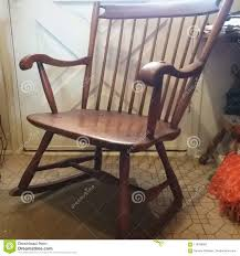 Old Rocking Chair Stock Photo. Image Of Wood, Chair - 119228002