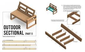 Outdoor Furniture Plans Free Download by Free Diy Outdoor Sofa Plans Gray House Studio