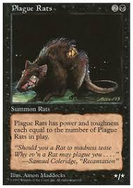 in memory of plague rats legacy mtg deck
