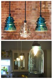 antique insulator pendant lights and blue jar lights ideas