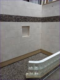 Home Depot Bathroom Floor Tiles Ideas by Bathroom Awesome White Subway Tile Shower With Pebble Floor Home