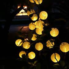6m 30 led outdoor lighting lantern ball solar string lights fairy