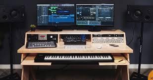 Cute Music Production Desk Platform Natural Keyboard Tray 9