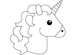 Unicorn Emoji Coloring Pages Creative Space Unicorn Coloring