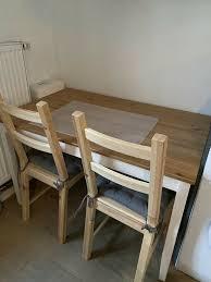 2 stühle ikea ivar stuhl esszimmer küche holz mit sitzkissen