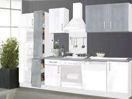 küchenzeile ohne geräte 310 cm hochglanz weiß