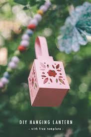 Hanging Paper Lantern Tutorial Free Template