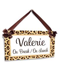 Personalized Leopard Print Sign On Lunch Break