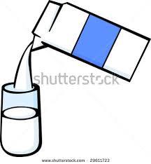 glass of milk clipart