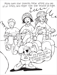 McGruff The Crime Dog Bicycle Safety Coloring Book