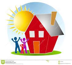 Family With House Sun Clip Art Illustration 3378942