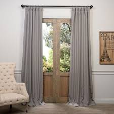 105 Inch Drop Curtains by Half Price Drapes Pewter Gray 120 X 50 Inch Curtain Single Panel