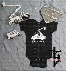 100 Big Truck Paper I Like Big Trucks I Cannot Lie Bodysuittoddler Shirt Etsy