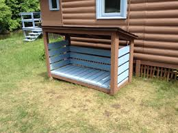 outdoor firewood rack plans