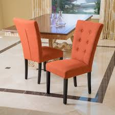 Leighton Burnt Orange Fabric Dining Chairs Set Of 2 Nailhead ... Burnt Orange Ding Chair Wayfair Room Chairs Upholstered Sets World Market Orange Lvet Chair Ultralighttentinfo Pair Of Stud Chenille Effect Black Legs Midcentury Modern Leather Set Of 4 Satchel Eurway Decoration Tan At Table In Ding Table With Chairs Design Ideas Shankar Espresso Style 9 Scroll Back Matrix Persimmon Fusion Living Faux Industrial Bar Stool