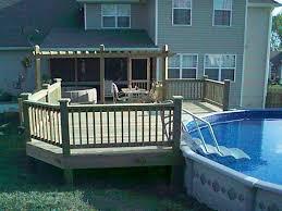 Above Ground Pool Ladder Deck Attachment by Best 25 Above Ground Pool Decks Ideas On Pinterest Above Ground