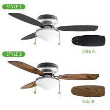 ustellar 42 inch ceiling fan with 3 wooden blades and light kit