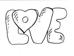 Love Coloring Pages Letters
