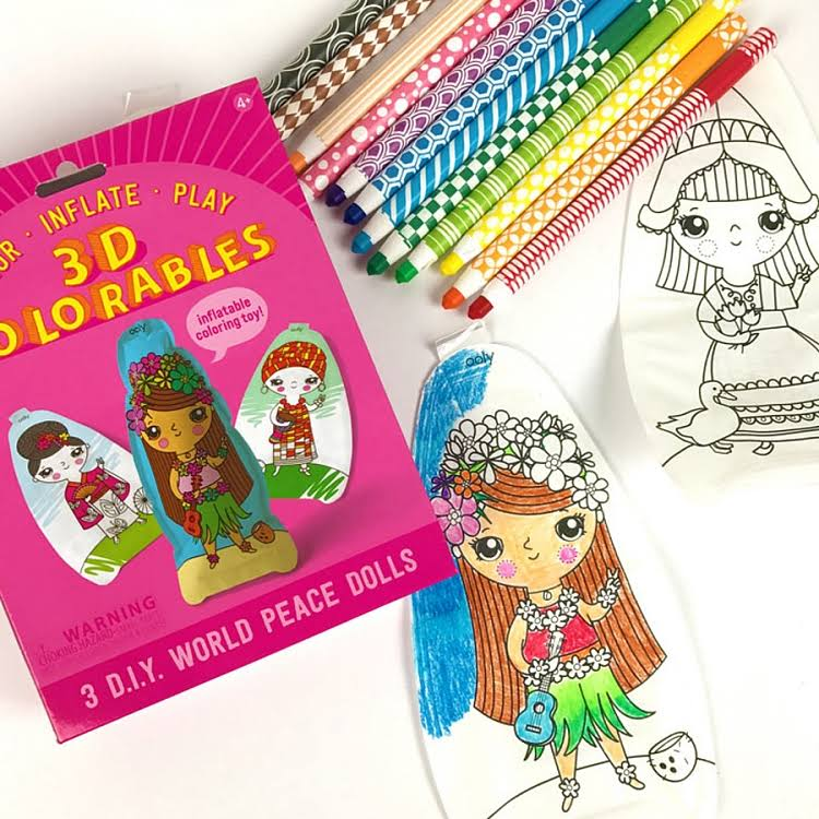 Ooly 3D Colorables World Peace Dolls