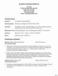 Java Sample Resume Save For Net Developer With 2 Year Experience Lovely Web