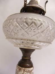 Antique Kerosene Lanterns Value by Antique Victorian Oil Kerosene Lamp Eapg Glass Font Porcelain