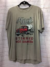 100 Mack Truck T Shirts Vintage VIntage Shirt Cement Stirred Not Etsy